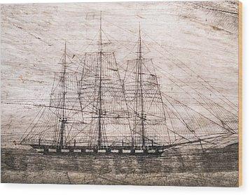 Scrimshaw Whale Panbone Wood Print