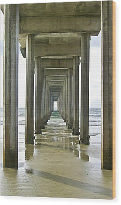 Scripps Pier La Jolla Wood Print