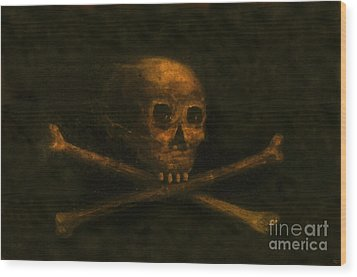 Scull And Crossbones Wood Print by David Lee Thompson