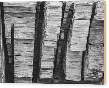 Sculpted Log Wood Print
