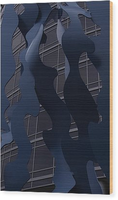 Sculptural Integrity Wood Print by Xn Tyler