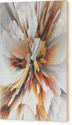 Wood Print featuring the digital art Sculptural Series Digital Painting 22.120210eext290lsqx2 by Kris Haas