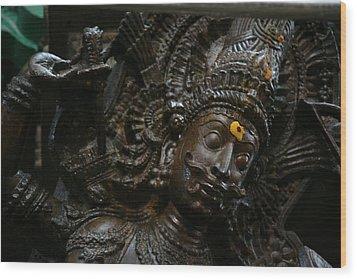 Sculpture Wood Print by Deepak Pawar
