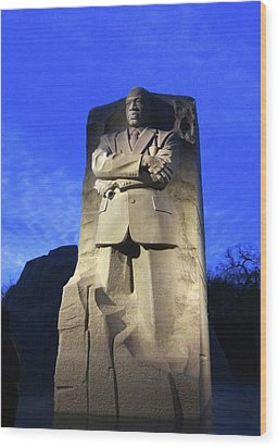 Sculptured Profile Martin Luther King Jr. Wood Print