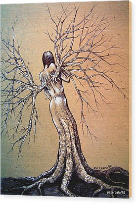 Sculptures Of Nature 2 Wood Print by Paulo Zerbato