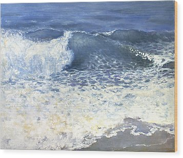 Wood Print featuring the painting Sea 1 by Valeriy Mavlo