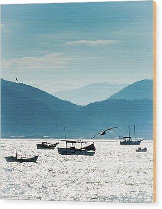 Sea And Freedom Wood Print by Martin Lopreiato