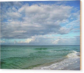 Sea And Sky - Florida Wood Print by Sandy Keeton