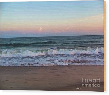 Wood Print featuring the photograph Sea And Sky by Roberta Byram