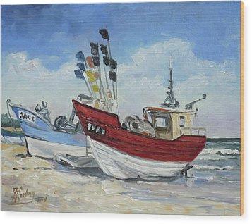 Sea Beach 10 - Baltic Wood Print