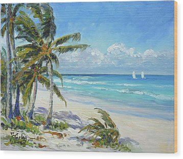 Sea Beach 12 - Punta Cana Wood Print