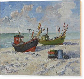 Sea Beach 3 - Baltic Wood Print