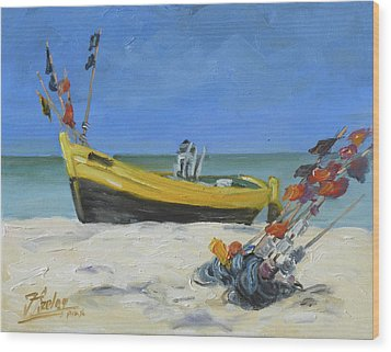 Sea Beach 4 - Baltic Wood Print