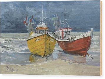 Sea Beach 5 - Baltic Wood Print