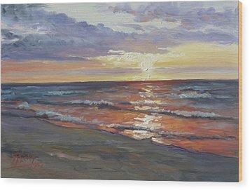 Sea Beach 8 - Baltic Sunset Wood Print