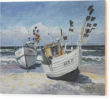 Sea Beach 9 - Baltic Wood Print
