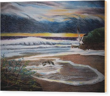 Sea Bird Wood Print by Kathleen Romana