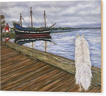Sea Dog Wood Print