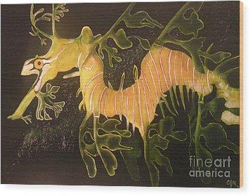 Sea Dragon Wood Print by Carol Northington