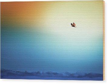 Sea Eagle On High Wood Print