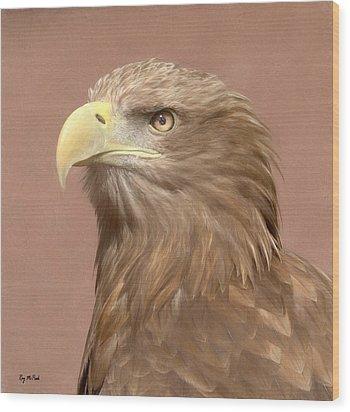Sea Eagle Wood Print by Roy McPeak