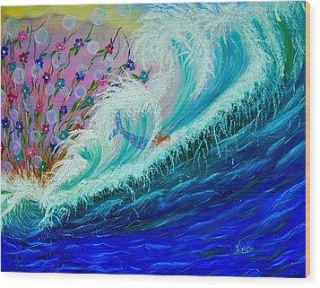 Sea Fantasy Wood Print by Kathern Welsh