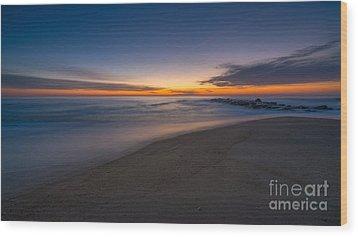 Sea Girt Sunrise New Jersey  Wood Print by Michael Ver Sprill