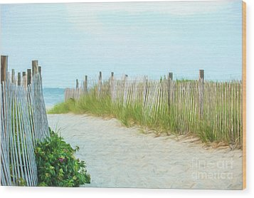 Sea Gull Beach #1 Wood Print