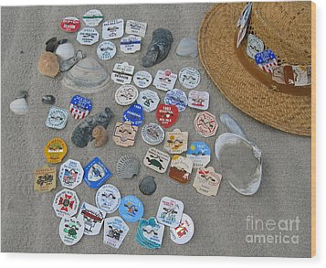 Sea Isle City Beach Tags Wood Print
