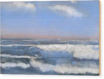 Sea Isle Waves Wood Print