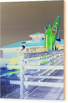 Sea Kyayks Wood Print by Peter  McIntosh