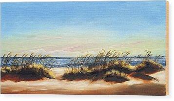 Sea Oats Wood Print by Michele Snell