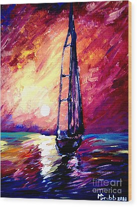 Sea Of Colors Wood Print by Michael Grubb