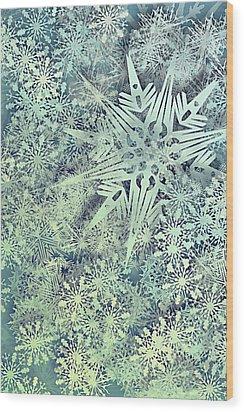 Sea Of Flakes Wood Print by AugenWerk Susann Serfezi