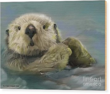 Sea Otter Wood Print by Crispin  Delgado