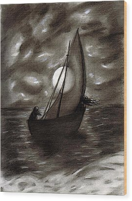 Sea Queen Of Connacht Wood Print by C Nick