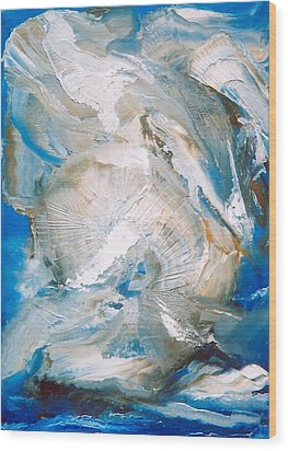 Wood Print featuring the painting Sea Shells by M Diane Bonaparte
