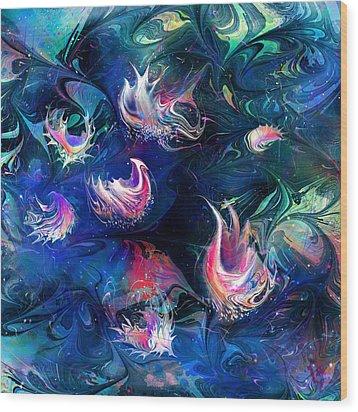 Sea Shells Wood Print by Rachel Christine Nowicki
