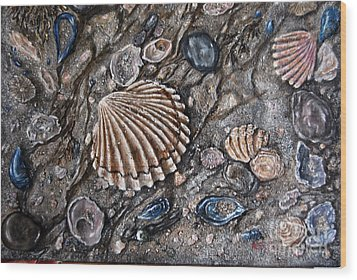 Sea Shore Wood Print by Avril Brand