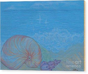 Sea Shore Wood Print by Kim Sy Ok