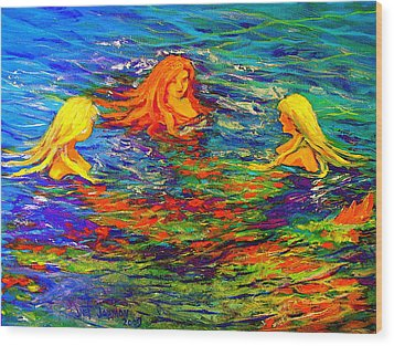 Sea Sisters Revisited Wood Print by Jeanette Jarmon