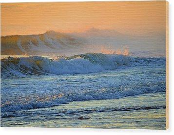 Sea Smoke Sunrise Wood Print by Dianne Cowen