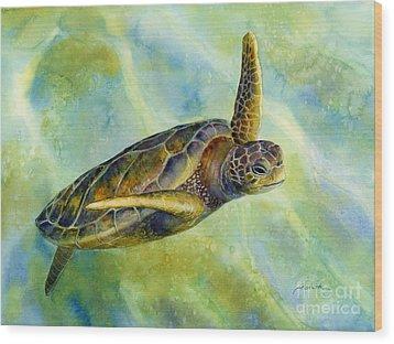 Sea Turtle 2 Wood Print