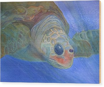 Sea Turtle IIi Wood Print by Dee Durbin