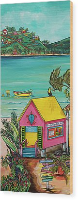 Sea Turtle Rescue Center Wood Print by Patti Schermerhorn