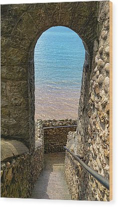 Wood Print featuring the photograph Sea View Arch by Scott Carruthers