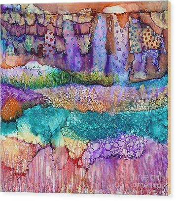 Sea Wall Wood Print