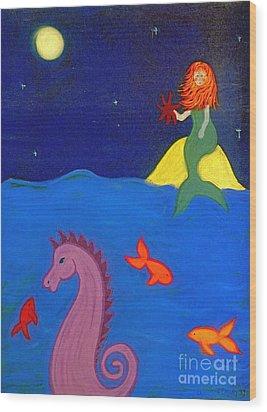 Sea Wishes Wood Print by Christine Crosby