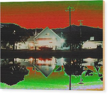 Seabeck General Store Wood Print by Tim Allen