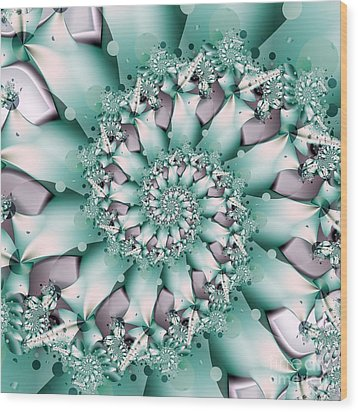 Seafoam Spring Wood Print by Michelle H
